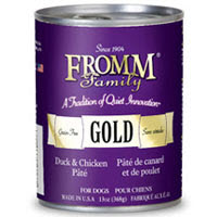 Gold Duck and Chicken Pate Canned Dog